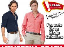 Venta por catalogo ropa de hombre
