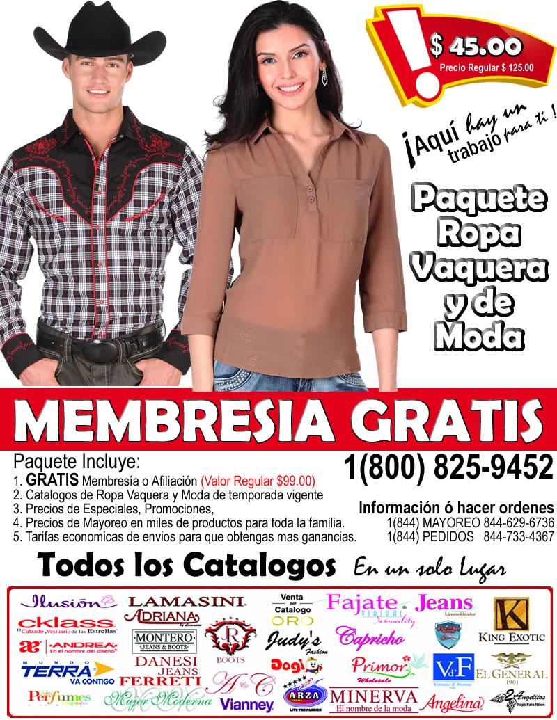 Catalogo de ropa Vaquera